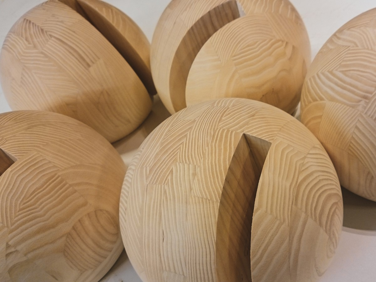 Prototype en frêne de meuble