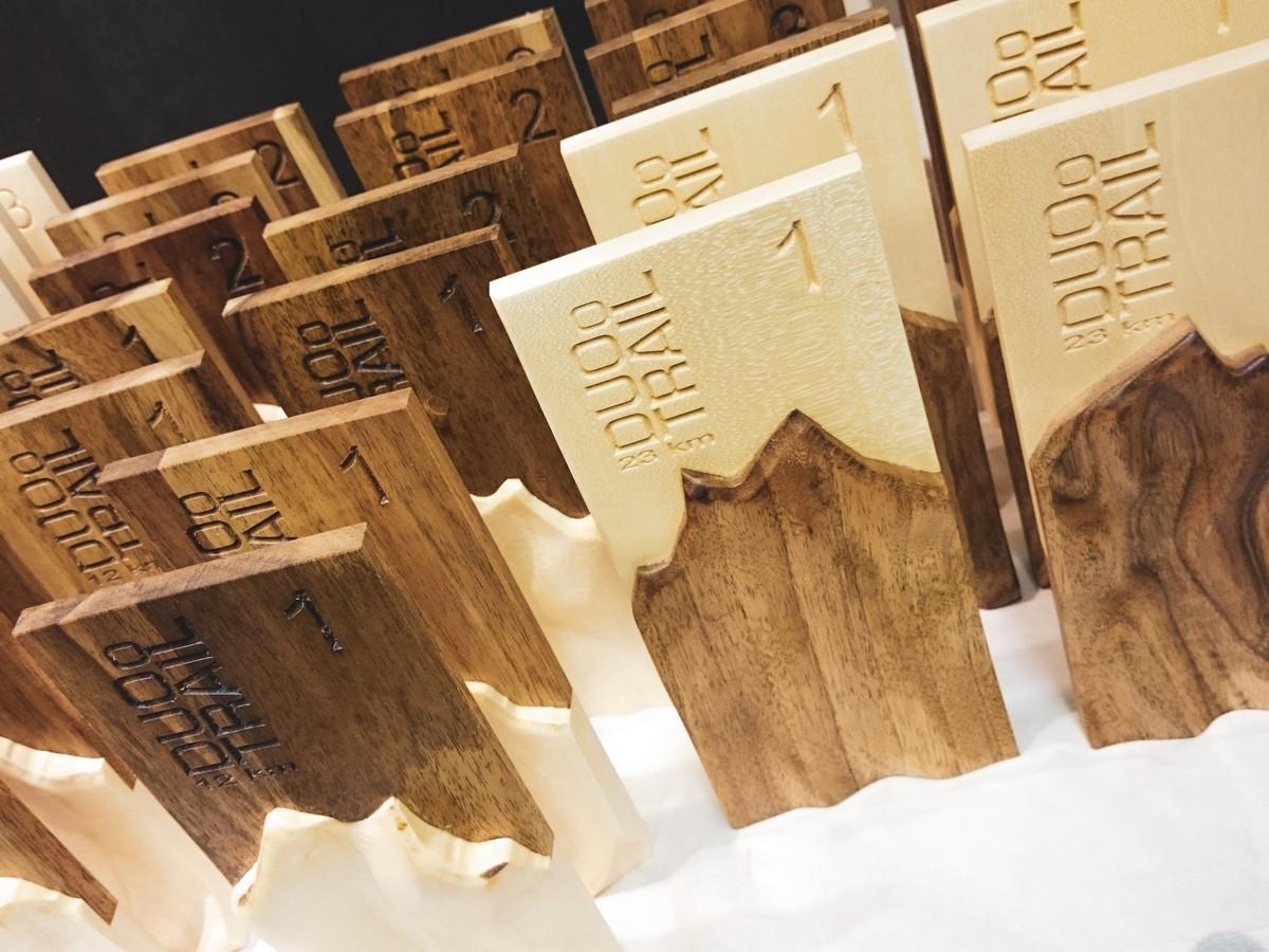 Design et usinage de trophées en bois