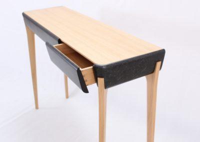 Ebenisterie d'art console carbone chene design